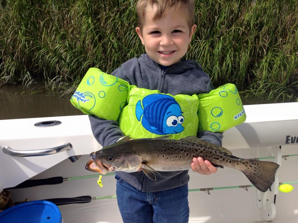 Jackson with a georgia trout